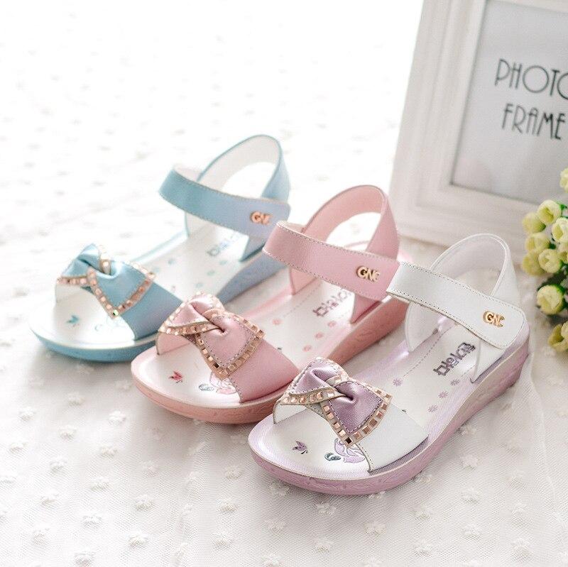 Kadingtong Letnie dziecięce buty dla dziewczynki Księżniczka Party - Obuwie dziecięce - Zdjęcie 2