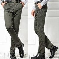 Xmy3dwx homem khaki calças na primavera outono homem de negócios high-end cavalheiro estilo solto emagrecimento macacão calças/29-40