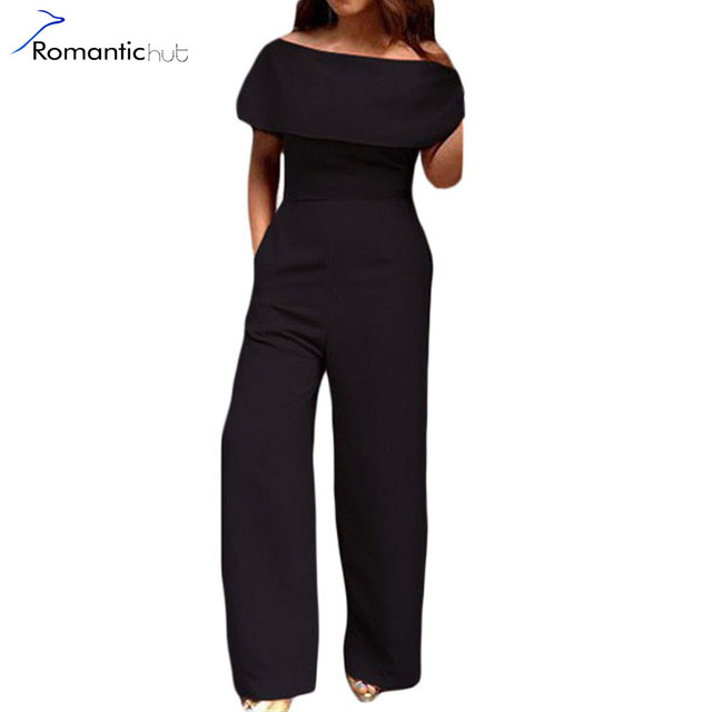 New Fashion Ladies Rompsuits Loose Casual Elegant Jumpsuits Cape Off Shoulder Pocket Wide Leg Jumpsuit Solid Slim Women Clothes
