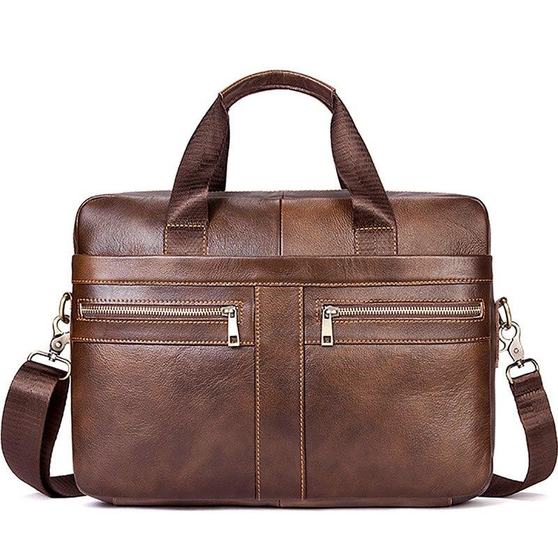 Haute qualité sac hommes mallette en cuir mâle pochette d'ordinateur pour hommes Messenger sacs noir affaires avec poignée sac à bandoulière XA193ZC