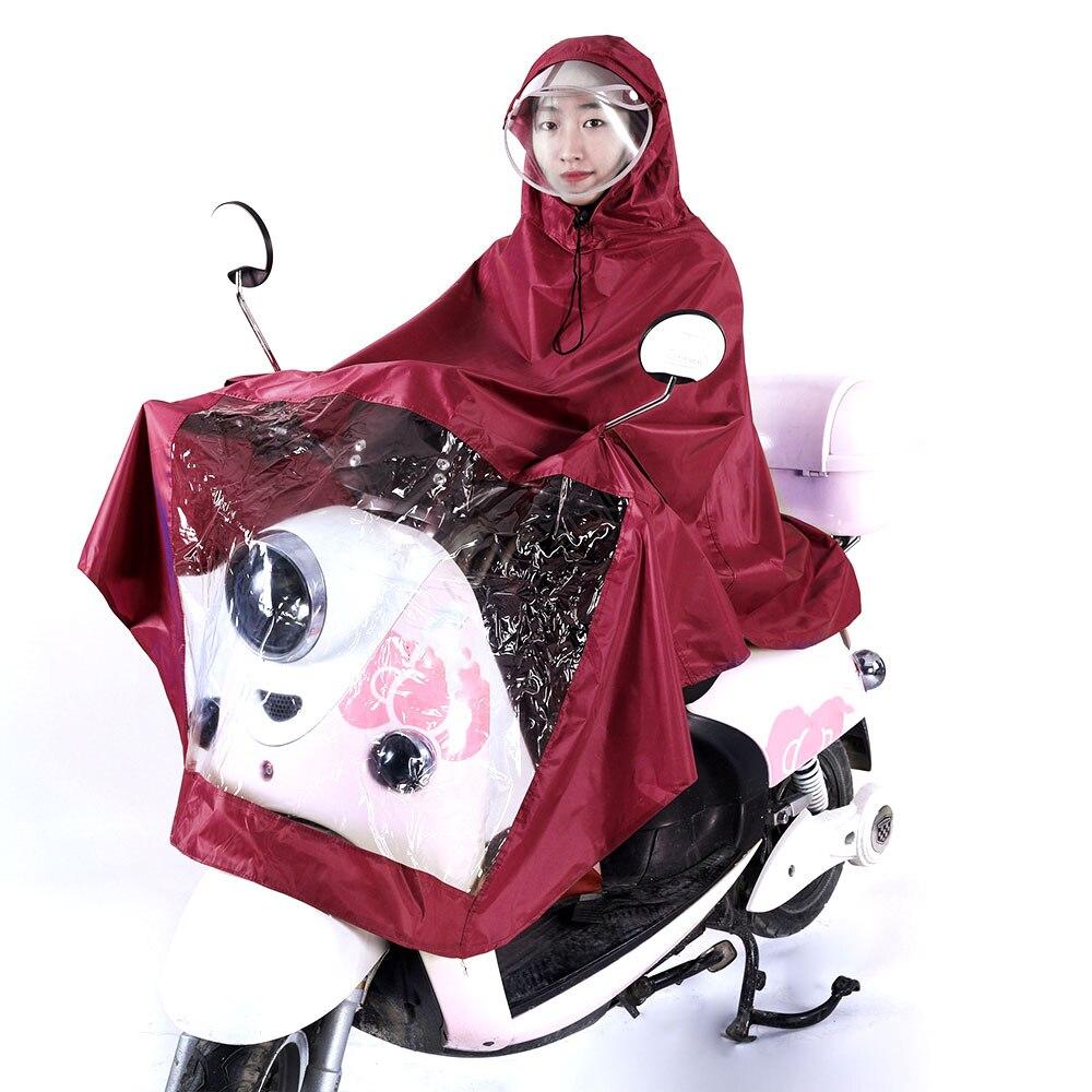 Vehemo Оксфорд унисекс мотоцикл плащ Дождевик-доказательство Универсальный Велоспорт накидка пончо ветрозащитный дождь ветер автомобильные аксессуары - Цвет: wine red