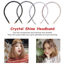 Fashion Crystal Shine Women Headband Colorful Elegant Hairband Girl Head wear Hair Band Accessories