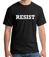 Anti Donald Trump Adult's T shirt Resist Political Protest Tee for Men 1524C Gift Print T shirt,Hip Hop Tee Shirt