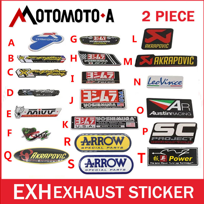 2ps uto car mivv ar 3M yoshimura stickers leovince cbr twobrothers two brother Stickers AKRAPOVIC Motorcycle Exhaust Pipes Decal hansa hansa fccw68220