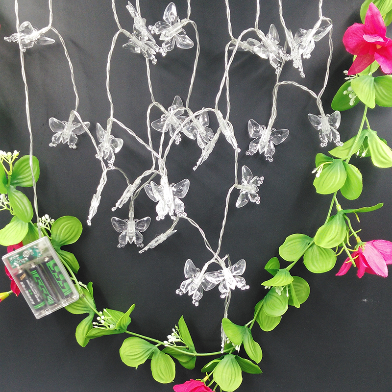 YIYANG Garden Butterfly Novelty Animal LED String Light Decoration Strings for Path Lightings boule neige noel lumiere 40LED 4M