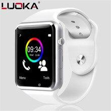 LUOKA A1 Смарт часы с Шагомер Камера sim-карты вызова Smartwatch для Xiaomi huawei htc Android телефон лучше, чем Y1 DZ09
