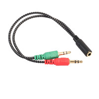 3.5mm Y Splitter 2 Jack Male to 1 Female Headphone Mic Audio Adapter Cable 2x 3.5mm Female to 2 Male Extension Cable  J.15