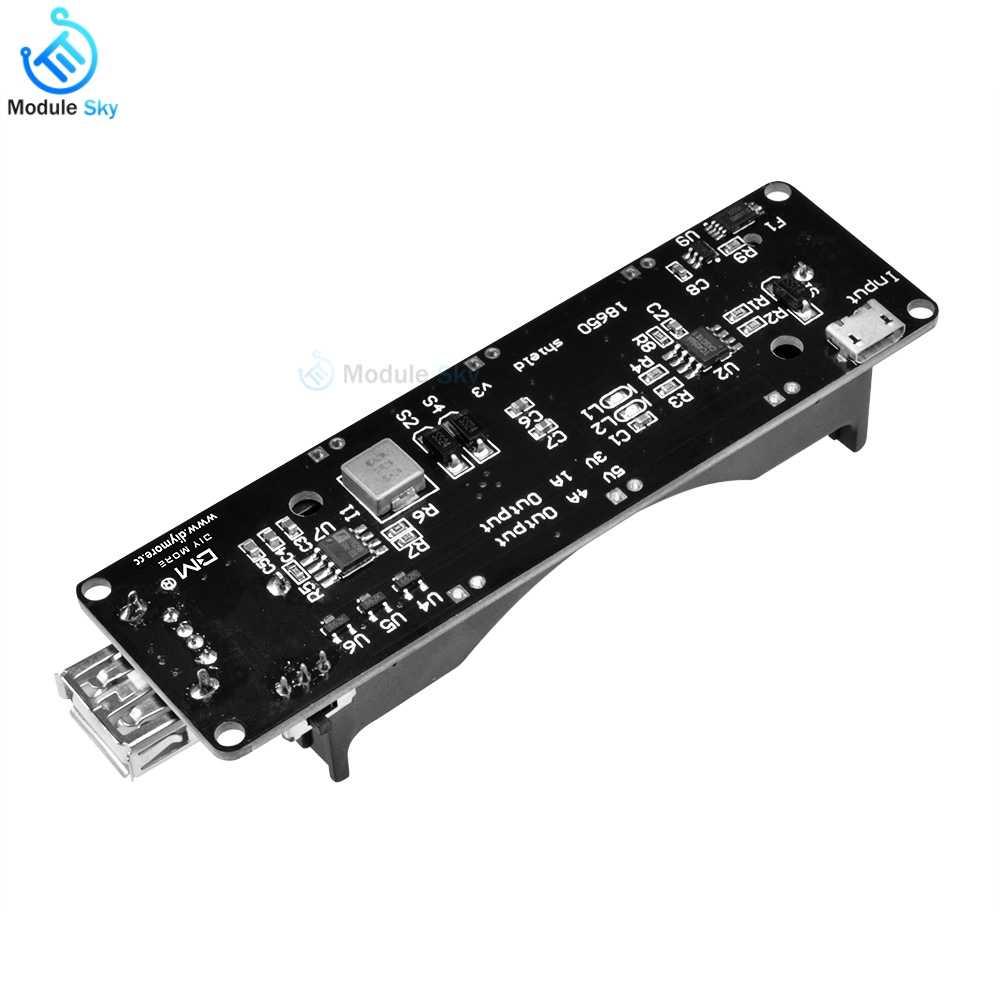 Bms 18650 Battery Shield V3 Expansion Board ESP32 Micro USB Port Type-A USB Module for Arduino Wemos Battery Holder Balancer