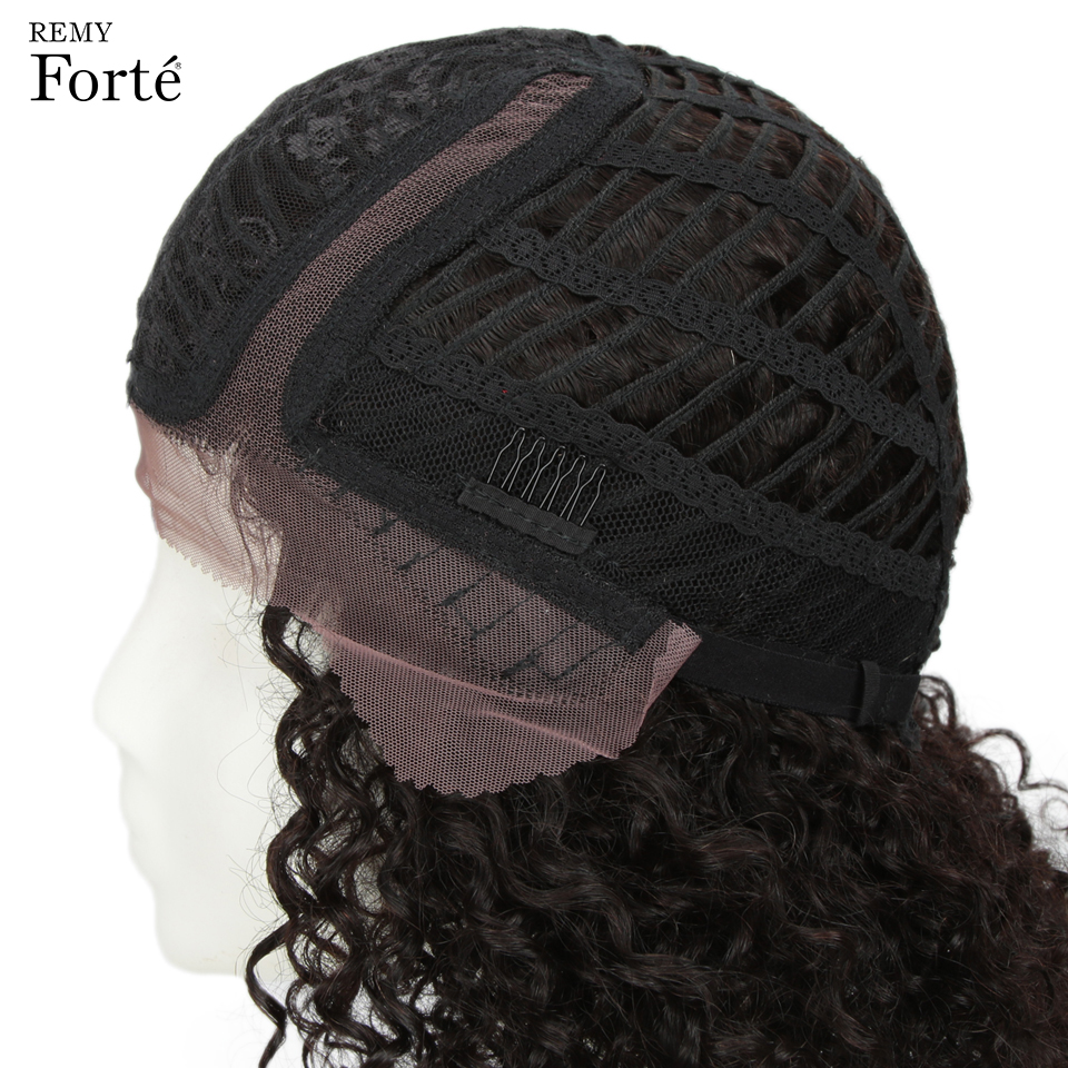 Image 5 - Remy Forte Lace Human Hair Wigs Curly Short Human Hair wig 100% Remy Brazilian Hair Wigs For Women U Part Kinky Curl Lace Wigs-in Human Hair Lace Wigs from Hair Extensions & Wigs