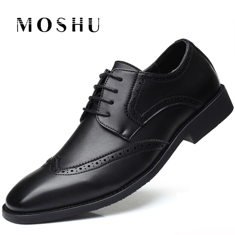 Designer Luxury Brand Oxfords Shoes Men Dress Leather Formal Business Shoes Male Big Size Breathable Wedding Pointy Shoes