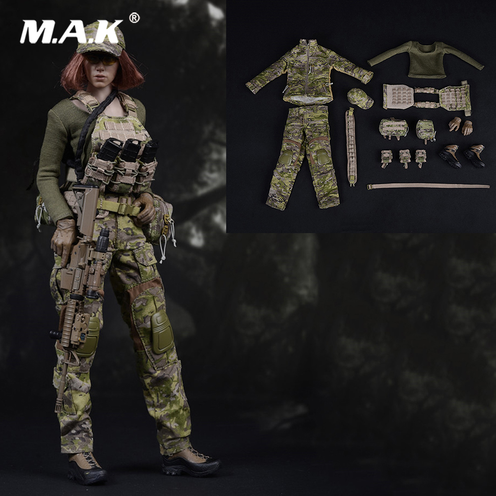 FG043 1 6 Scale Female Figure Clothes Set Accessory American Seal CP Camouflage Soldier Set Model