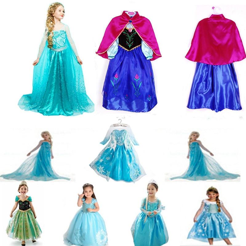 Cheap Childrens Halloween Costumes cheap halloween costumes for kids 2015 Halloween Costume For Kids Snow Queen Dress Anna Elsa Dresses Elsa Clothing Girlsbrand