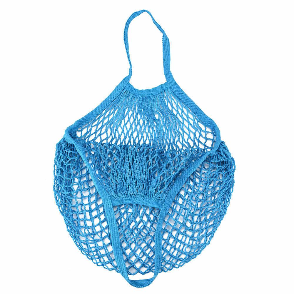 2019 New Lưới Net Rùa Túi Chuỗi Mua Sắm Túi Tái Sử Dụng Trái Cây Lưu Trữ Túi Xách Phụ Nữ Totes Lưới Mua Sắm Túi Mua Sắm Túi # sw