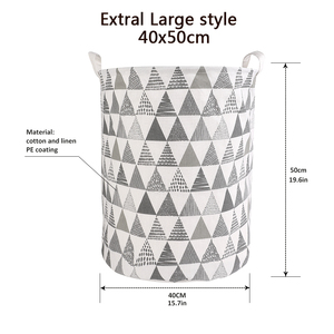 Image 4 - Folding Collapsible Laundry Basket Large Capacity Bin Bucket Laundry Hamper Canvas Dirty Clothes Organizer With Handle Bin 1pc