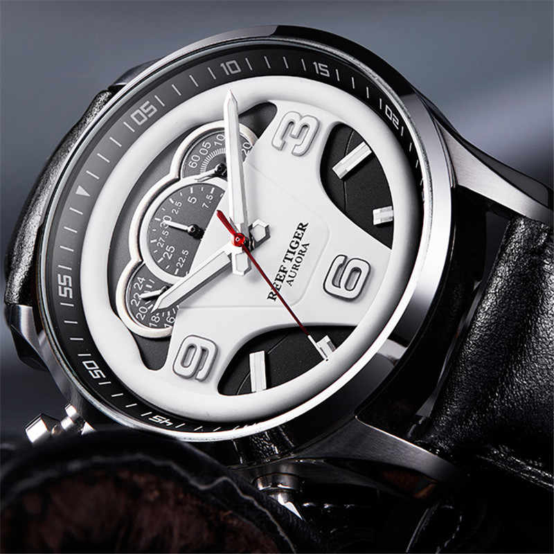 2019 Reef Tiger/RT Top Brand Luxury Men Sport Watch Chronograph Luminous Waterproof Analog Watches Relogio Masculino+Box RGA2105