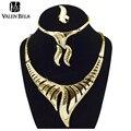 Valen bela etíope jóias feminino colar indiano colar de ouro mulheres brincos joias ouro conjuntos xl1224 sieraden