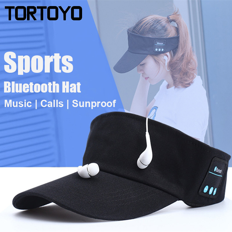 Outdoor Sports Smart Bluetooth Sun Hat Wireless Music Cap Phone Call Headphone Headset With Microphone For iPhone Smart Phone