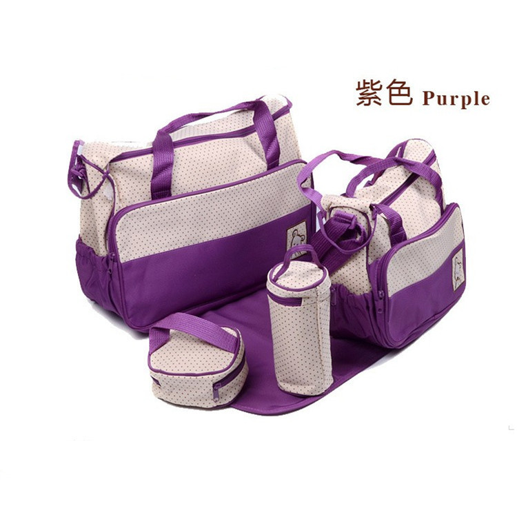 ФОТО Mochilas Nappy Bags 2016 Zipper New Hot Imported Microfiber Mummy Five Piece Suit Bag Multifunctional Fashion Baby Diaper Bottle