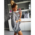 long cardigan knitted sweater winter coat women fall thick overcoat female autumn bat sleeve open stitch half sleeve jumper N060