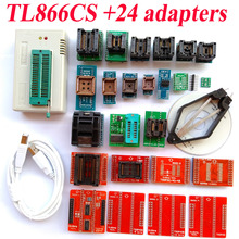 TL866CS programmeur + 24 adaptateurs Haute vitesse TL866 AVR PIC Bios 51 MCU EPROM Flash manuel Programmeur Russe Anglais