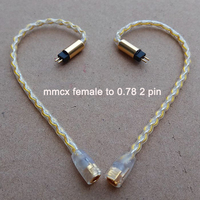 MMCX Female 0.78mm 2 pin IM04 IE80 A2DC MMCX Male Earphone Headset Cable Adapter for shure SE215 SE535 SE846 IE80 CKS1100 E40