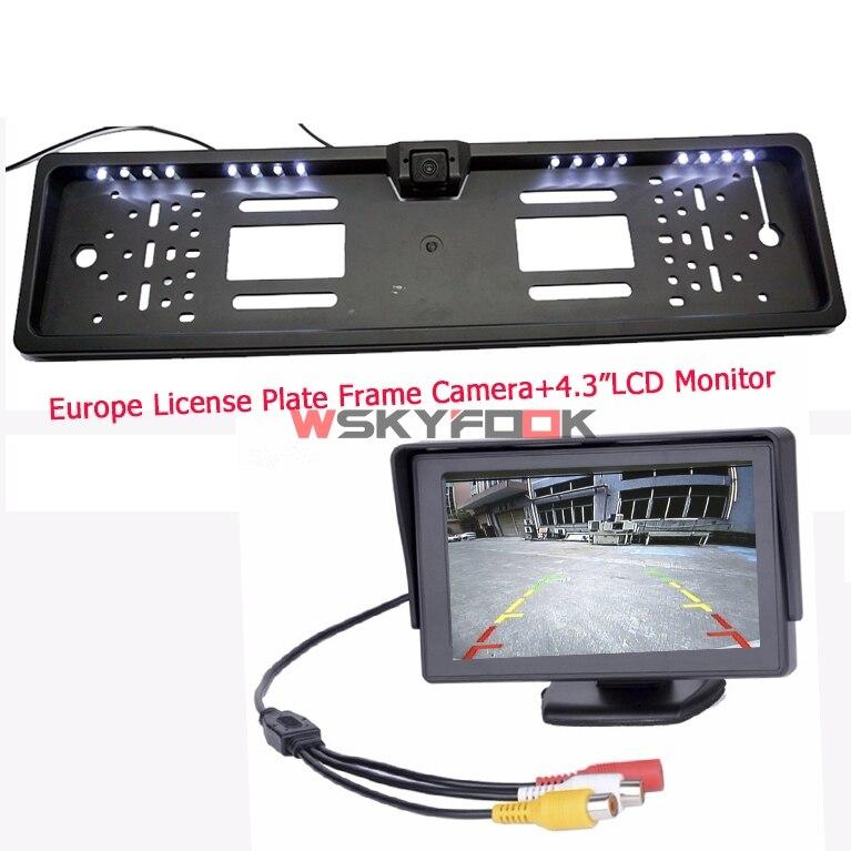 Die Neueste Europa kennzeichenrahmen auto rückfahrkamera mit backup ...
