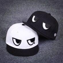 Dreamlikelin divertido blanco y negro los ojos de moda Unisex Snapback  gorras de los hombres de las mujeres de béisbol ajustable. cfab27469927