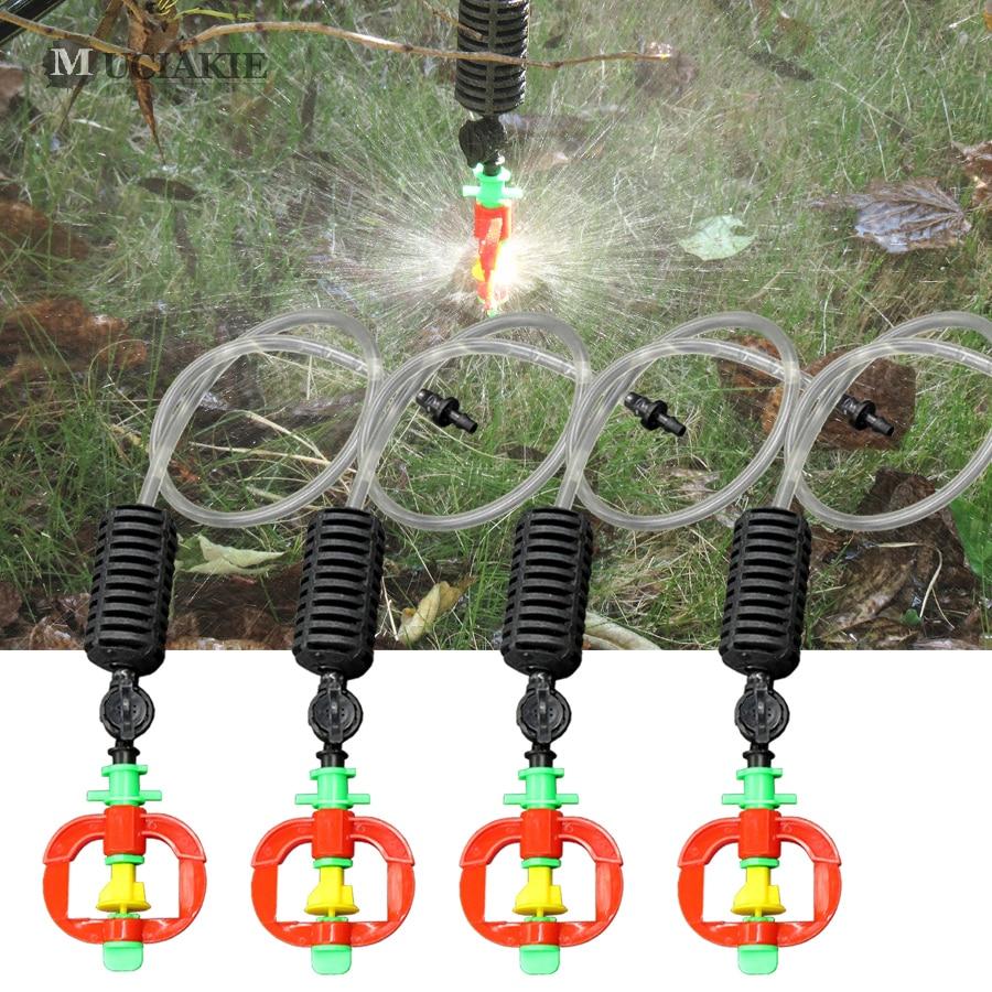 5pcs Hanging Sprayer Rotary Sprinkler With Antidrip Garden Irrigation Fitting