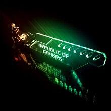 Чехол для графической карты Кронштейн GPU поддержка акрил + металл красочный зеленый/красный/синий/белый/RGB/Аврора светодиодный ASUS AURA Mobo SYNC