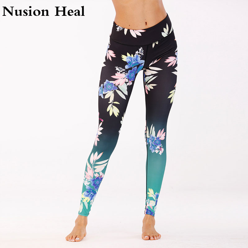 Women Yoga Leggings Yoga Pants Leggins Sport Women Fitness Sport Leggings Soft Flexible Running Tights Exercise Yoga Leggings ...