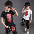 New Spider Man Children Boys Clothing Sets Boy Spiderman Cotton Sport Suit Kids Sets T Shirt + pants 2pcs Boys Clothes