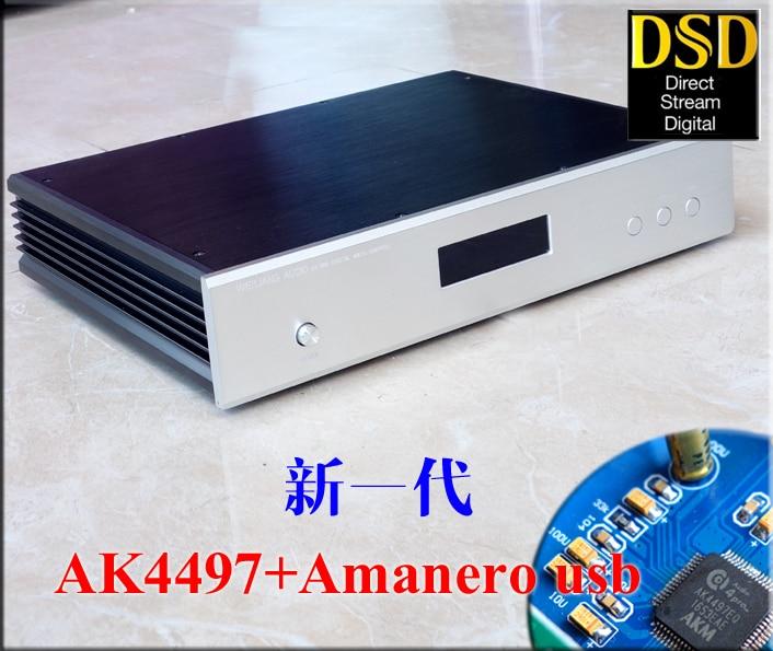 Nouveau AK4497 Numérique audio décodeur DAC + Amanero USB prend en charge DSD mise à niveau de AK4495SEQ