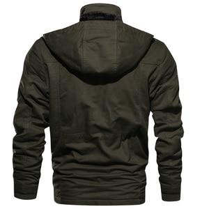 Image 3 - Мужская парка, зимняя флисовая Повседневная стеганая куртка с несколькими карманами
