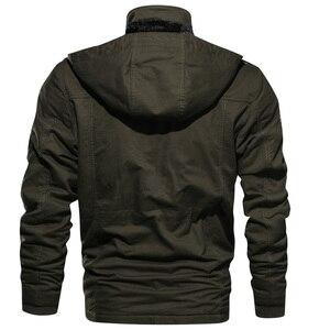 Image 3 - Heren Parka Jas Winter Fleece Multi pocket Casual Gewatteerde Jas