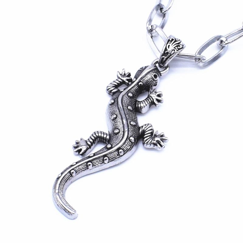 lizard  set Ensemble collier pendentif  et boucles d/'oreilles /' lézard /'