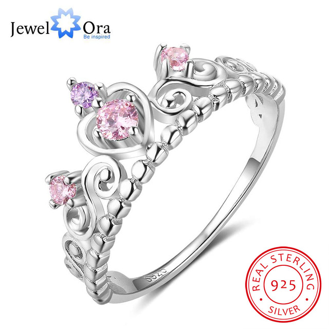 Classic Crown Love Ring Soild 925 Sterling Silver Rings For Women Anniversary Je