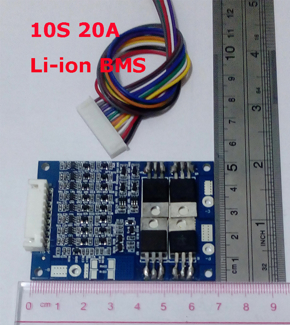 10S 20A   lithium Polymer  lipo BMS/PCM/PCB battery protection board for 10 cells 18650 Li ion Battery Cell