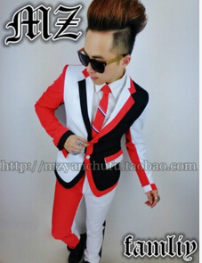 New fashion suits nightclub bar male singers Outerwear DJ performance  blazer DS light men s stage wear d78bce4b26cc