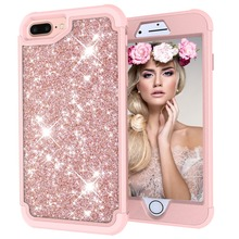 WEFOR For iPhone 8 7 6 6S Plus Cases Glitter Slim Bling Diamond Case For iPhone 7 8 Plus Luxury Hard Back Phone Cases For iPhone cheap Matte Fitted Case Rhinestone Case Dirt-resistant Heavy Duty Protection Anti-knock Apple iPhones iPhone 6 iPhone 6 Plus IPHONE 6S