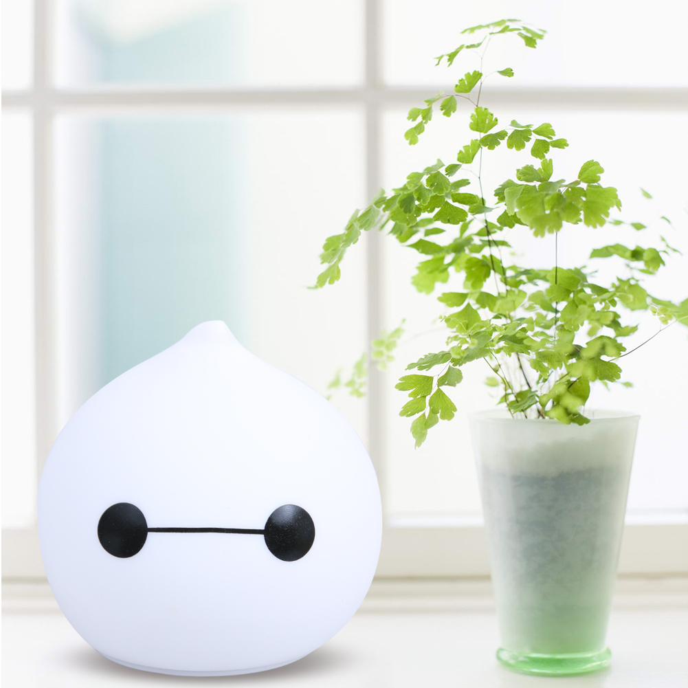 Rechargeable Waterdrop Colorful Silicone LED Night Light for Kids Baby Night Lamp Bedroom Light