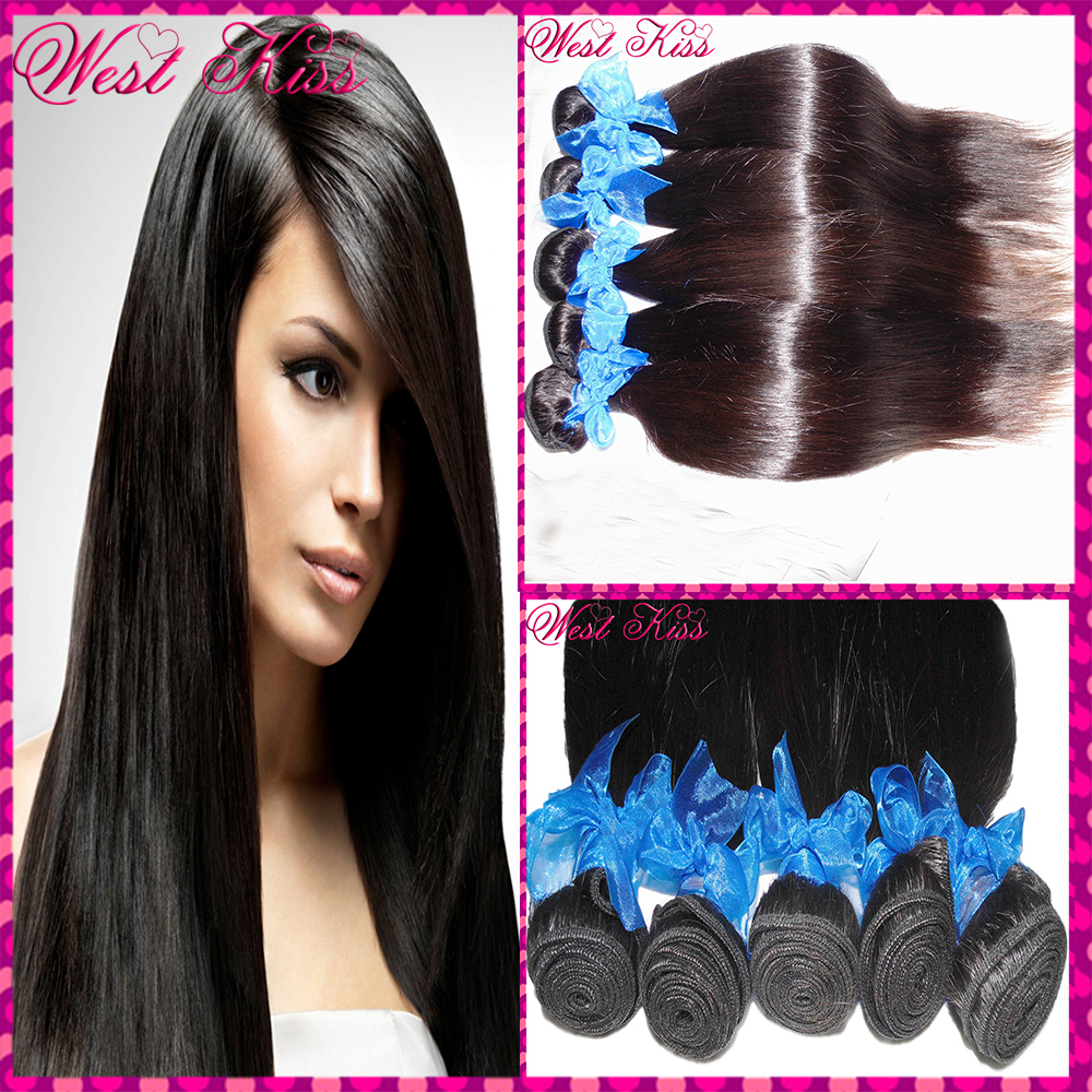 8a Luxury Raw Indian Virgin Straight Hair Weave 4 Bundles African