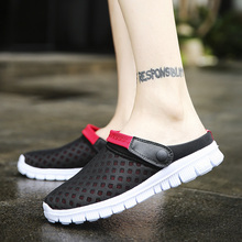 CIMIM Casual Sandals Shoes Fashion Breathable Mesh Shoes Summer Men Sandals Couple Slippers Large Size Walking Shoes Beach Shoes