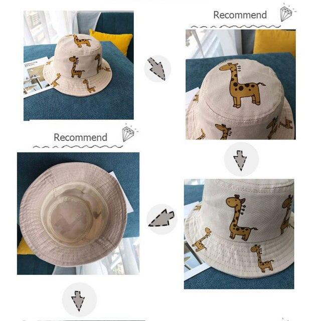 Cartoon Giraffe Printed Sun Hat for Kids 5