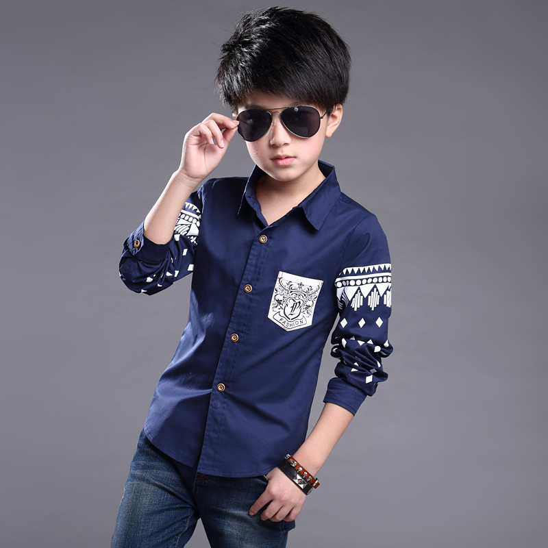 d0e8e97a3ec7 2017 Autumn new child shirts for 4 5 6 7 8 9 10 years old fashion ...