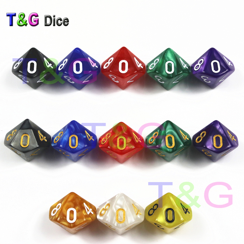 Brand New  D10 Dice For Rpg Dungeons & Dragons 10 Faces Games Dices Rich Colors Desktop Polyhedral Set ,for Dnd Game Playing
