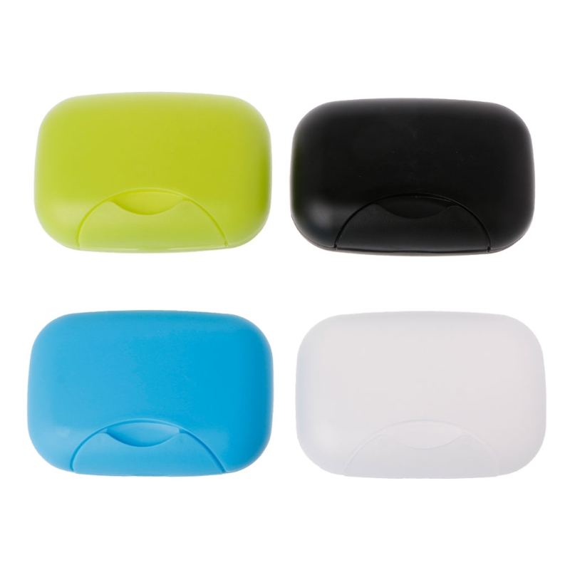 Portable Bathroom Dish Plate Case Home Shower Travel Hiking Holder Container Soap Box Soap Container