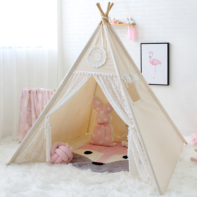 LoveTree Canvas Teepee Canopy Tent Playhouse Kids toy teepee tent Play room Indoor outdoor tourist game room teepee - aliexpress.com - imall.com : teepee canopy - afamca.org