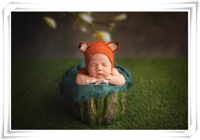 Mohair fuchs bonnet Neugeborene mädchen motorhaube Baby pixie hut ...