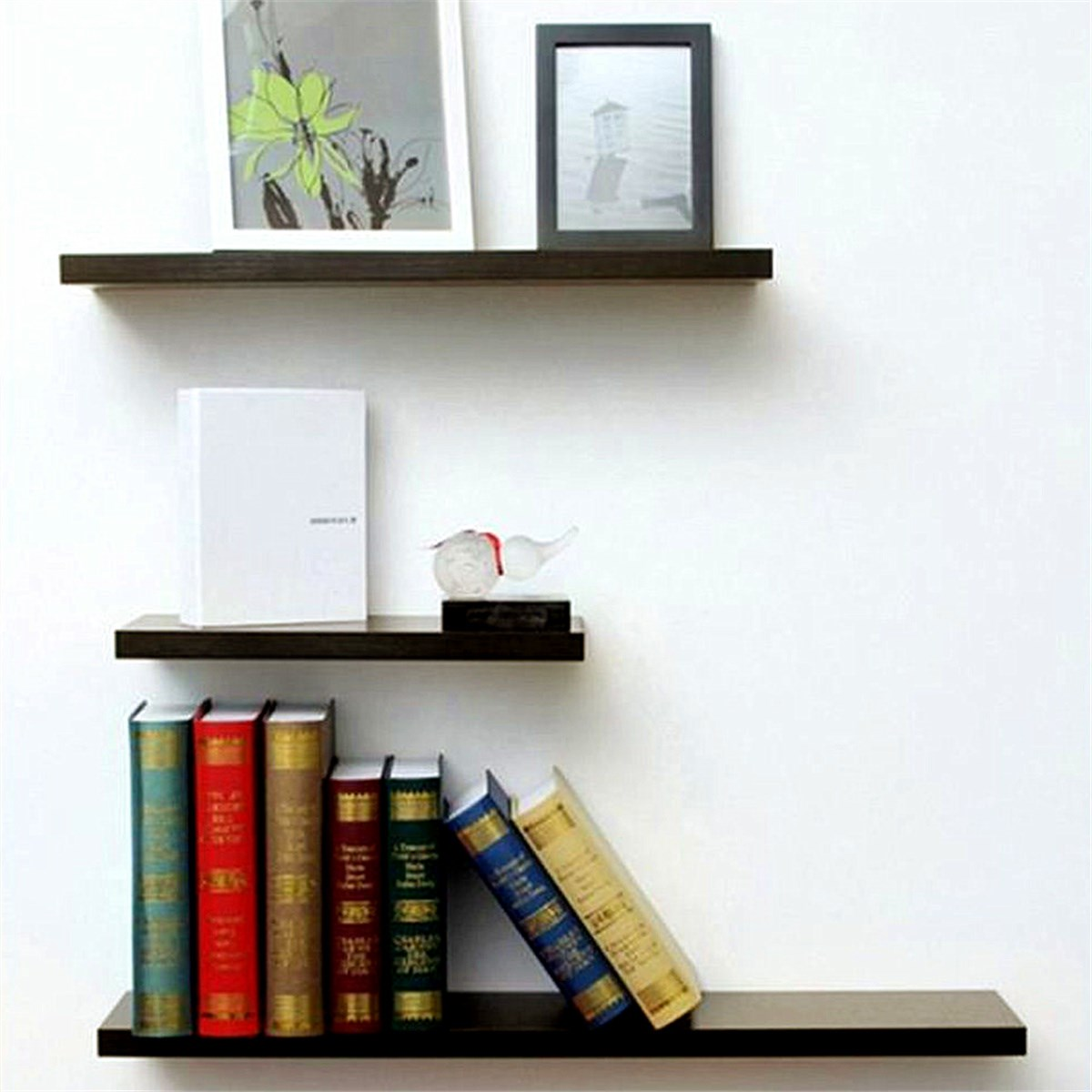 storage some mounted but on of not with wooden book only added as decorate amazing shelf modern design white also the wall