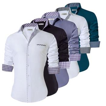 2018 Fashion Men's Shirts Slim Fit Men's Casual Shirts Long Sleeve Turn-Down Collar Formal Dress Shirts Men Clothes 2018 Camisa 1